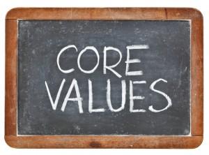 Core Values On Blackboard